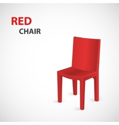 Red Chair Isolated vector image vector image