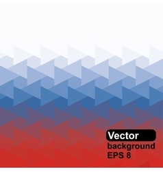 Russian flag of geometric shapes vector image