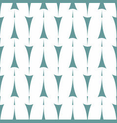 tile pattern with mint green arrow print on white vector image vector image