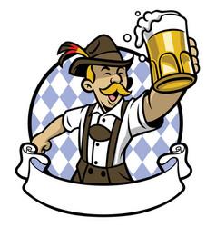 bavarian man celebrating oktoberfest vector image vector image