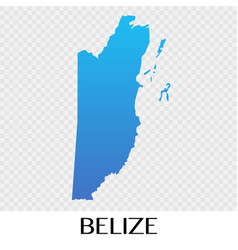 belize map in north america continent design vector image