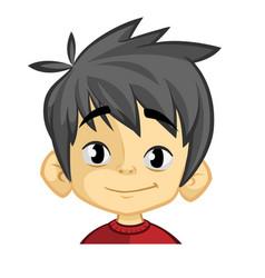 cartoon funny boy head vector image vector image