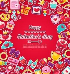 Celebration Postcard for Valentine Day vector image vector image