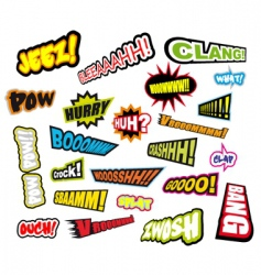 comic word expressions vector image vector image
