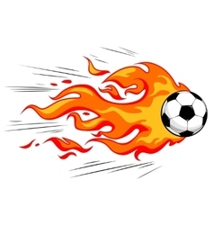 Flamy soccer ball vector image