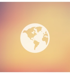 Globe in flat style icon vector image