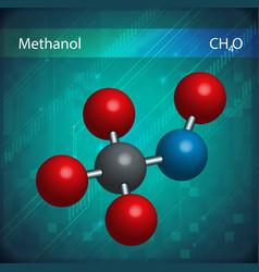Methanol formula vector image