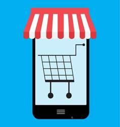 Shop store online mobile vector image vector image