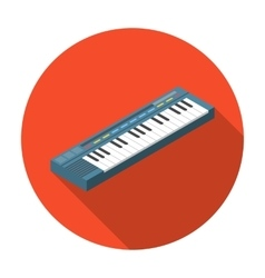 Synthesizer icon in flat style isolated on white vector image vector image