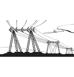 Transmission of high voltage vector image