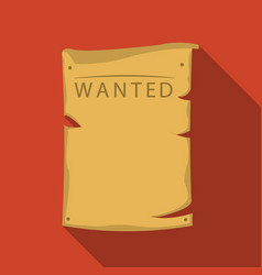 wanted icon flate singe western icon from the vector image