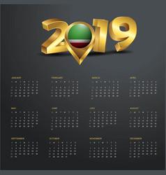 2019 calendar template chechen republic country vector