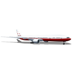 A plane landing vector image