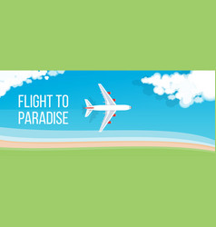 Air travel banner vector