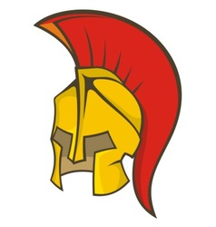 Ancient soldier helmet vector