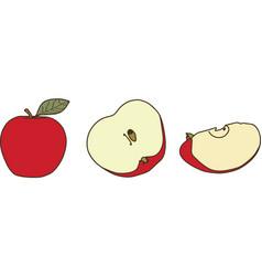 Apple fruit eps vector