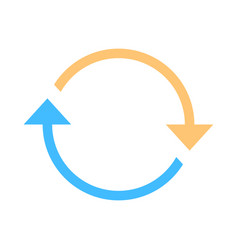 arrow sign rotation icon reload symbol vector image