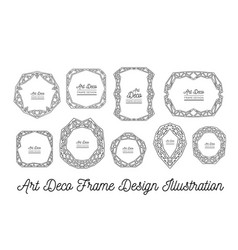 art deco decorative frame wedding invitation vector image