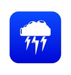 Atmospheric electricity icon blue vector