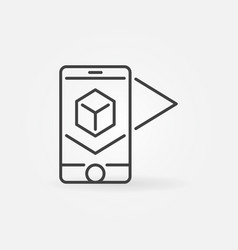 augmented reality technology outline icon or vector image