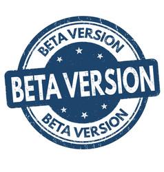 Beta version grunge rubber stamp vector