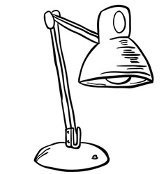black and white lamp vector image