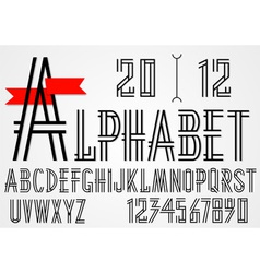 Black simple alphabet letters vector image vector image