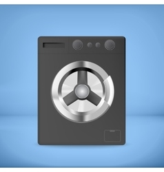 Black washing machine vector image