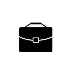 Briefcase diplomat flat icon vector