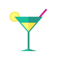 Bright coloured cocktail vector