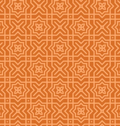 brown arabic pattern vector image