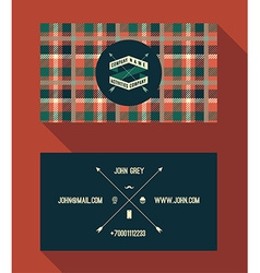 Business card template vintage retro background vector image
