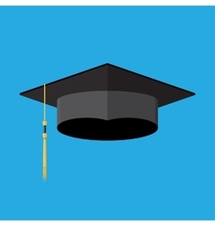 cademic graduation cap Student hat vector image