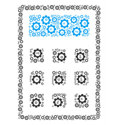 Calculator collage of cog vector