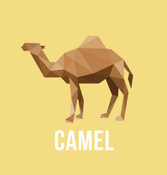 Camel with polygonal geometric style vector