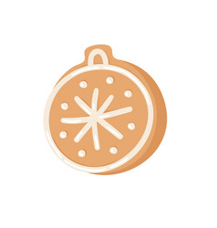 cartoon ginger bread cookie christmass toy ball vector image