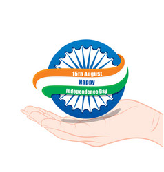 Celebrate happy independence day of india vector