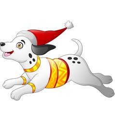 christmas dalmatian dog vector image