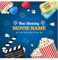 Cinema background movie name vector