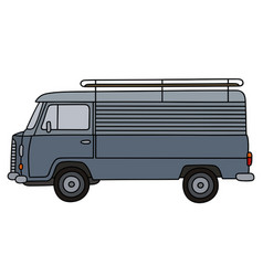 Classic delivery car vector