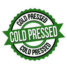 cold pressed label or sticker vector image