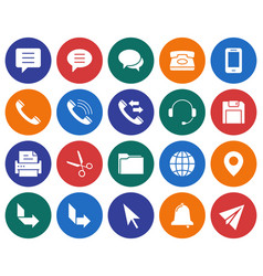 collection of round icons user interface set 3 vector image