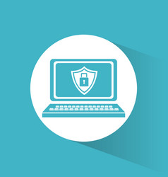 cyber security technology data vector image