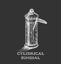 Cylindrical sundial vector