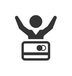 Debt free icon vector