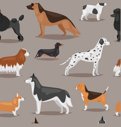 different dogs breed cute cub puppy whelp vector image