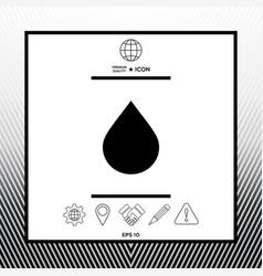 Drop symbol icon vector