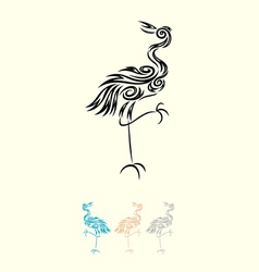 Egret decoration vector