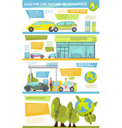 Electro car infographics vector