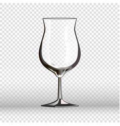 empty cocktail drinking glass isolated on vector image